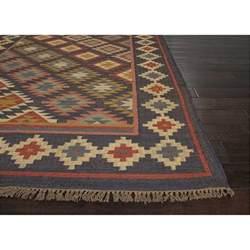 jaipur rug1 bedouin flat weave durable jute black multi