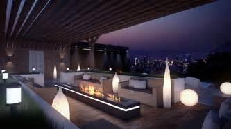 terrassen design eclairage terrasse