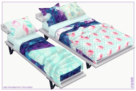 contents  stand  recolours mesh required   meshes  pillows  double blankets