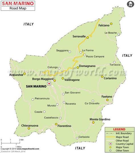 san marino on map of europe san marino karte routen