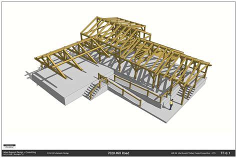 Timber Frame Design Using Sketchup | sketchup layout mbdc llc