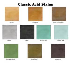 butterfield color chart acid staining kote decorative concrete