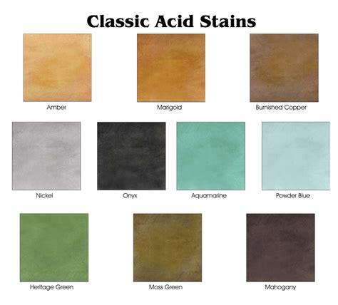 acid stain colors acid staining kote decorative concrete