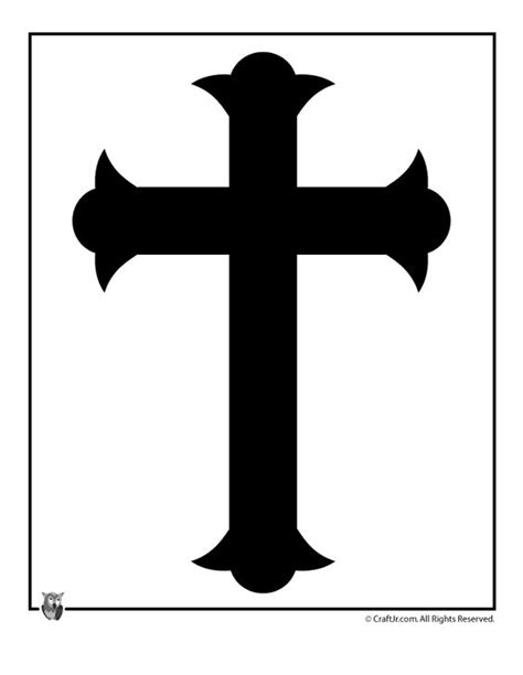 cross template cross black and white template easter templates to print
