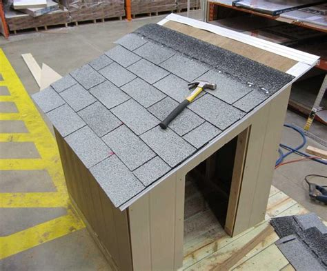 how to roof a dog house dog house with roof top deck the home depot community