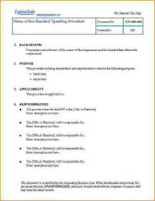 how to write standard operating procedure template how to write a standard operating procedure