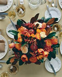martha stewart fall centerpieces thanksgiving centerpiece with pomegranates tulips and roses step by step diy craft how to