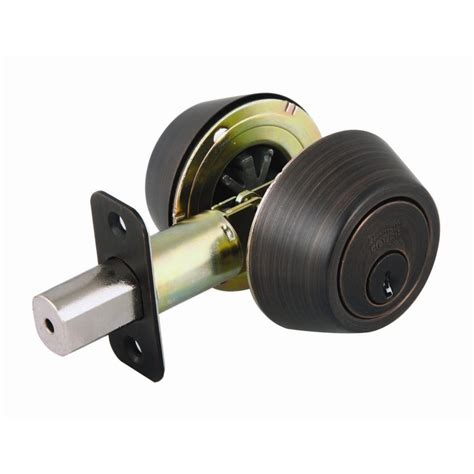 design house cylinder brushed bronze deadbolt
