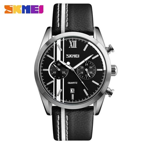 Jam Tangan Casual Skmei Tahan Air jual jam tangan pria skmei analog casual leather