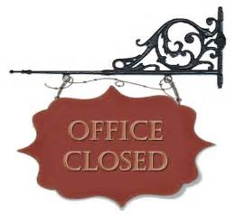 office closed sign template image gallery office closed