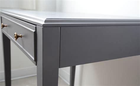 Diy Table Base Table En Bois Peinte En Gris Et Voil 224 Atelier