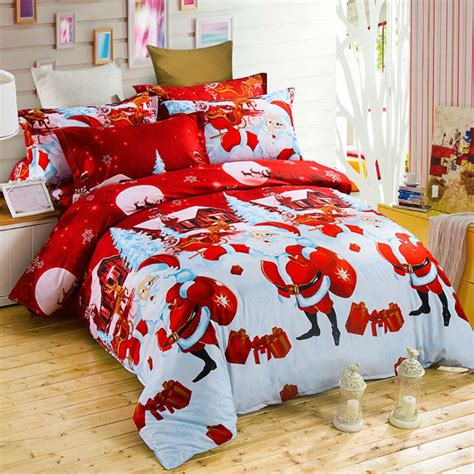 Bedding Sets Stores Aliexpress Buy Bed Linen Gift Present Bedding Sets Santa Claus Bed
