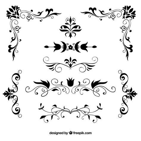 wedding small tent cards fleur de lis template conjunto de bordas florais decorativas desenhadas 224 m 227 o