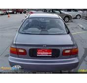 1995 Honda Civic DX Coupe Horizon Grey Metallic /