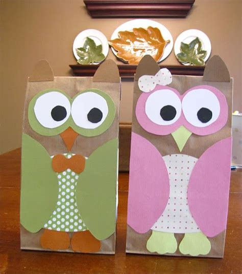 Owl Paper Bag Craft - paper bag owl crafts for fall craft ideas