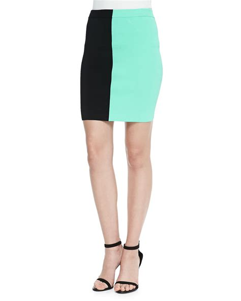 Tunik Two Tone 1 t by wang two tone stretch pencil skirt in blue lyst
