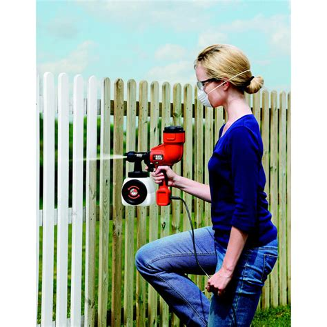 black decker paint sprayer fence sprayer