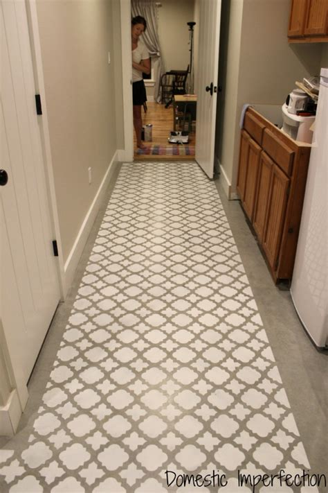 Laundry Room Make Over - stenciling a cement floor with a moroccan pattern 171 stencil stories