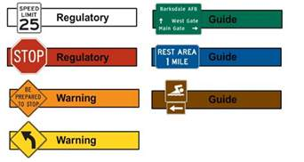 what color are guide signs sign requirements simple meaning
