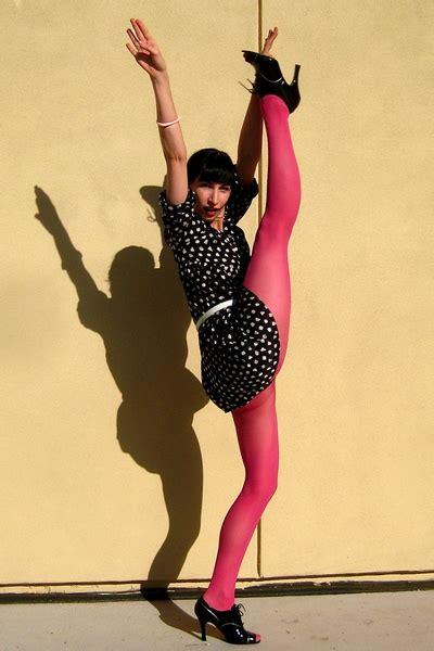 Pink Mix Black Dress 27379 fel roze legging girlscene forum