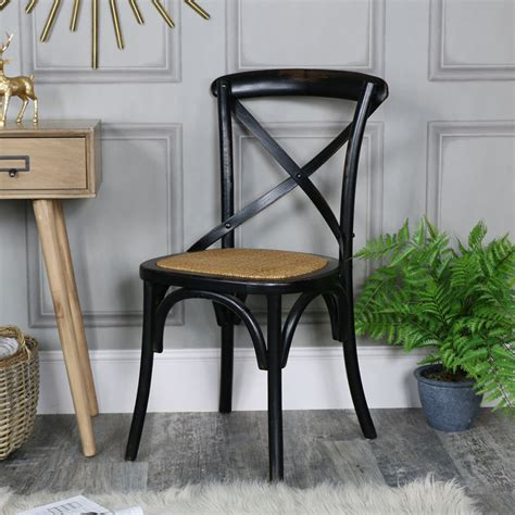 Cross Back Bistro Chair Black Vintage Crossback Bistro Dining Chair Range
