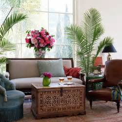 Decorating Small Living Room With Plants Global Accent Ethnic Flair Decorating Indoor Plants