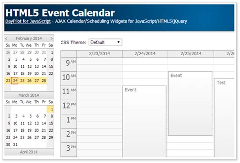 design calendar in asp net html5 event calendar open source daypilot code