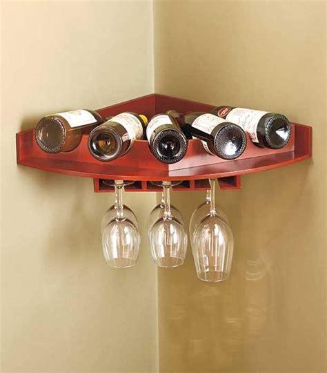 Wall Mount Wine Glass Rack by New Corner Wall Mount Wine Bottle Stemware Glass Rack