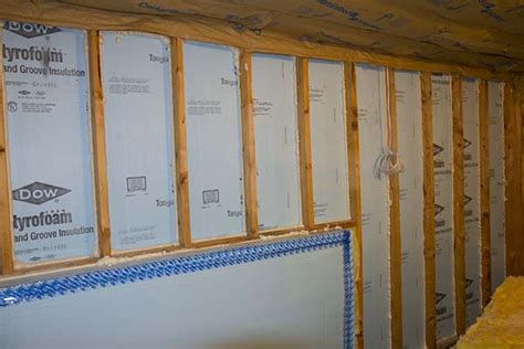 walk out basement wall insulation