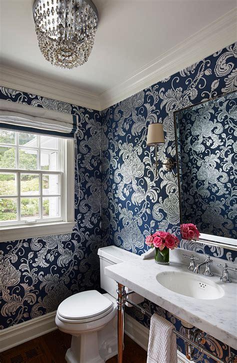 wallpaper powder room interior design ideas home bunch interior design ideas