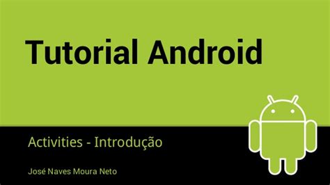 tutorial android net tutorial android activities