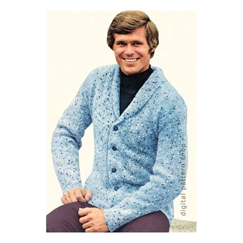 mens shawl collar sweater knitting pattern mens knitting pattern cardigan sweater pattern shawl collar