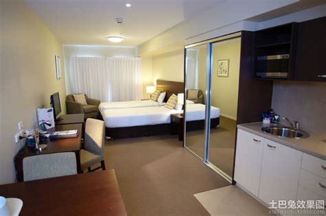 efficiency rooms for rent 30平米酒店式公寓装修效果图 土巴兔装修效果图
