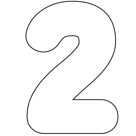 number template number 2 stencil clipart best