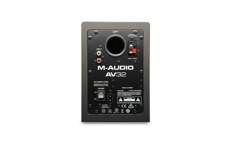 Small Desktop Monitor Speakers M Audio Av32 Compact Desktop Monitor Speakers Pair