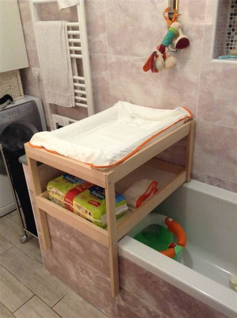 Changing Table Bath Bathtub Changing Table For Small Spaces Ikea Hackers Ikea Hackers