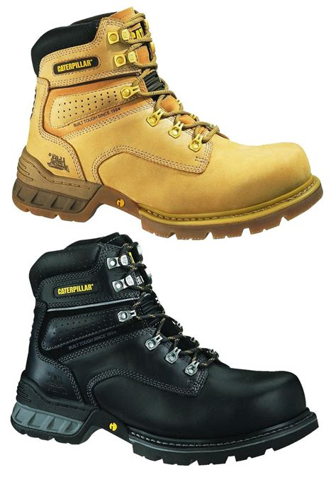 Caterpilar Boots Safety caterpillar cat foundation mens steel toe work safety boots shoes durable cat