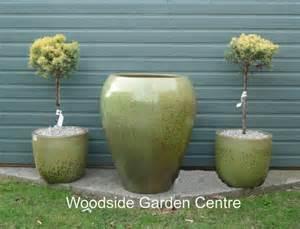 Glazed Garden Pots Large Sw Green Glazed Noodle Pot Planter