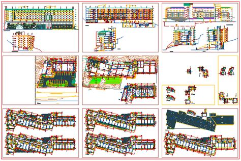 hotel floor plan dwg bloques cad autocad arquitectura 2d 3d dwg 3ds library