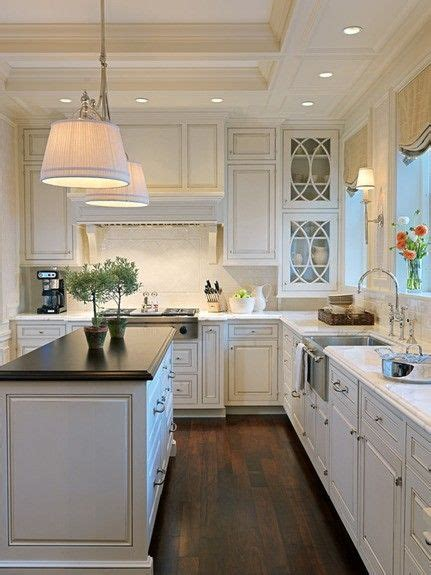 white kitchen cabinets pinterest white cabinets dark countertops dark floors at home