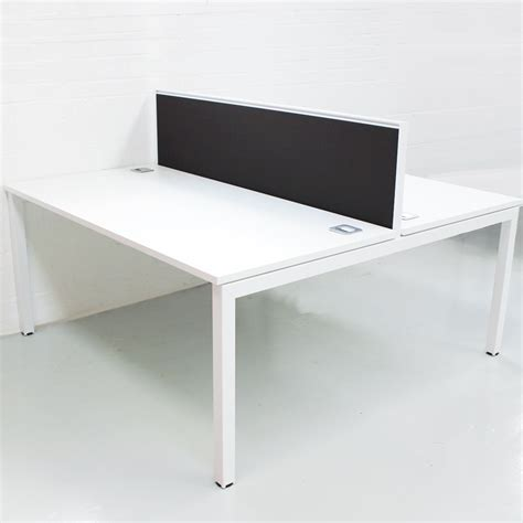 white bench desks white bench desk with black screens white bench desk desk with dividing screen