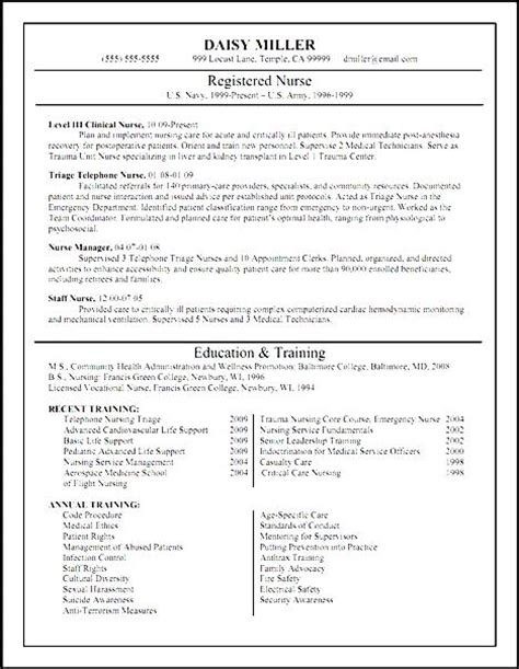 Resume Format For Fresh Nursing Graduates by Fresh Graduate Nursing Resume Free Sles Exles