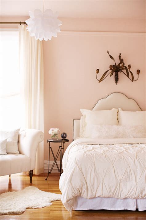 Bedroom Wall White White And Pink Striped Wall Contemporary Bedroom