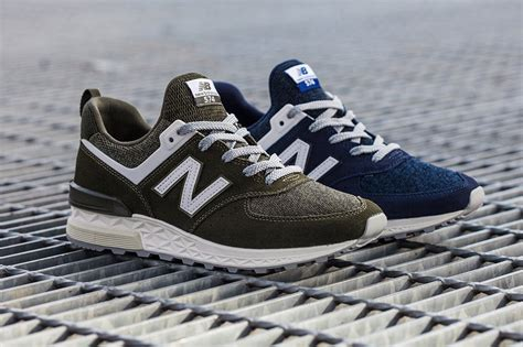 new and new balance 574 sport in olive and blue hypebeast