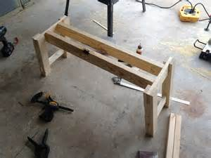 white benchwright farmhouse table and bench diy