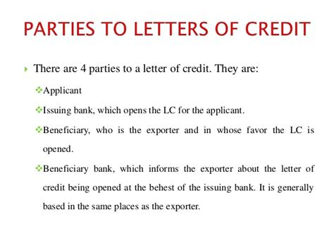 Beneficiary Certificate Letter Of Credit Letter Of Credit