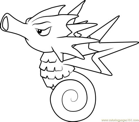 pokemon coloring pages of horsea seadra pokemon coloring page free pok 233 mon coloring pages