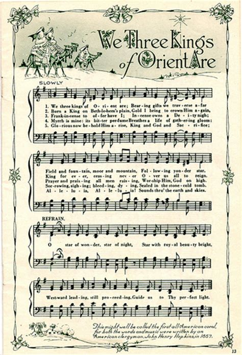 printable christmas music sheets we 3 kings free for use in your art raidensgrammie21