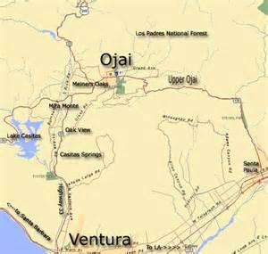 map of ojai california ojai map ojai