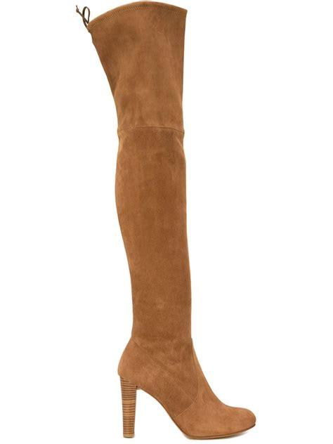 Sepatu Boots Stuart Weitzman stuart weitzman highland suede the knee boots in